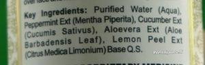 ingredients of khadi face freshner