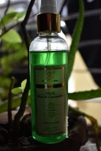 khadi mint and cucumber face spray review